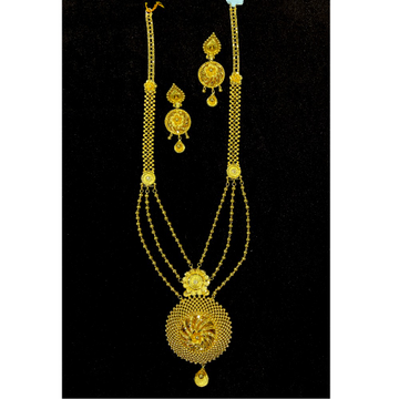 22KT Yellow Gold Designer Necklace Set BJ-N14