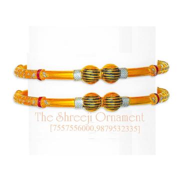 22KT Gold Antique Modhiya Copper Kadali - 0028
