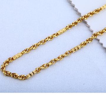 916 Gold Mens  Hallmark  Fancy Choco Chain MCH231