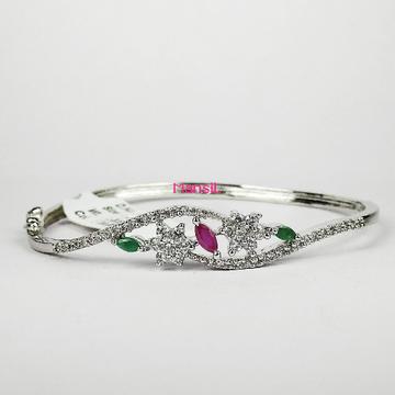 92.5 sterling silver cz stone kada bracelet ML-74