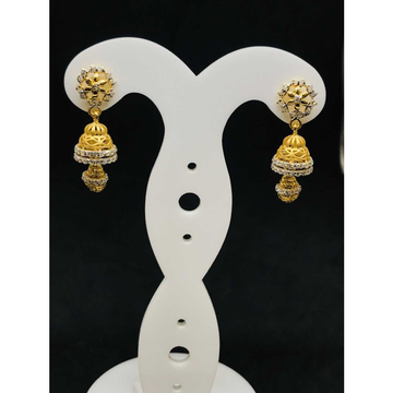 22k Ladies Fancy Gold Earring Er-60043
