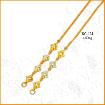 916 Gold Stylish CZ Earchian KC-124