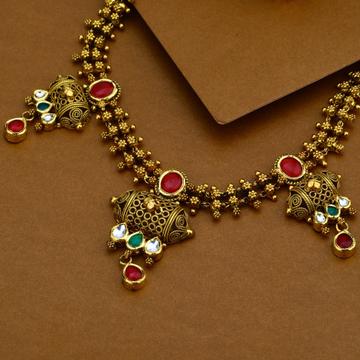 916 Gold Antique Designer Necklace Set