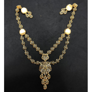 22K Gold Double Layer Turkish Necklace by