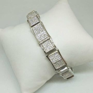 925 Sterling Silver AD Diamond Designed Gents Bracket
