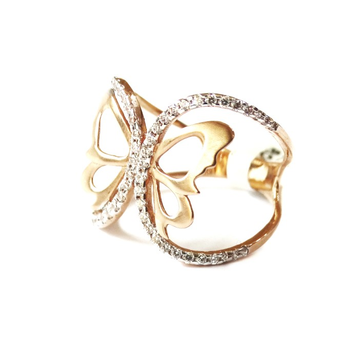 18k rose gold butterfly ring mga - rgr0042