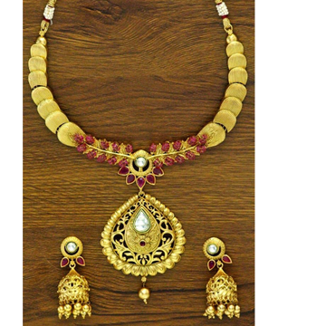 916 rajwadi Gold Set