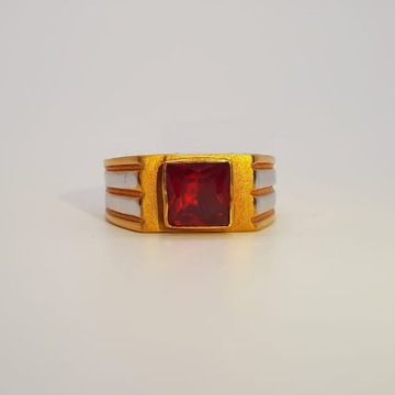 22 CT GOLD GENTS RING WITH RUBY