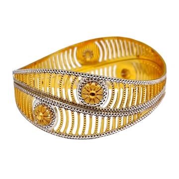 One Gram Gold Forming Flower Shaped Modern Bangles MGA - BGE0491
