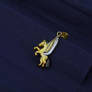 Men's Exclusive 916 Fancy Unicorn Gold Pendant- MFP03