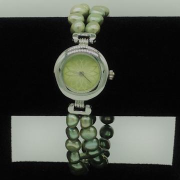 Freshwater green buttonpearls 2layers designer watchjbg0233