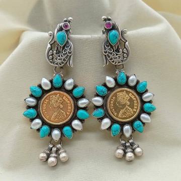 Puran coin inspired blissful turqoise sunflower da...