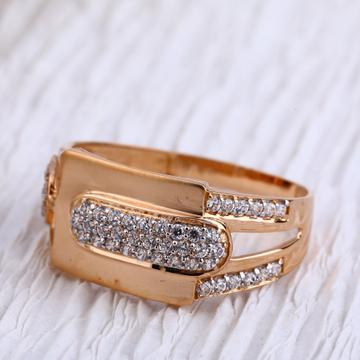 750 Rose Gold Hallmark Mens Ring RMR83