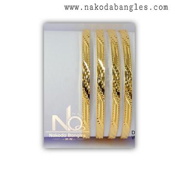 916 Gold CNC Bangles NB - 1328