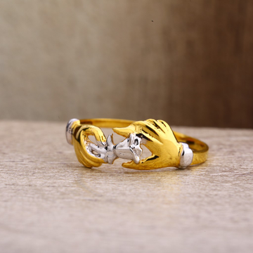 22Kt Gold Fancy Hallmark Women's Plain Ring LPR262