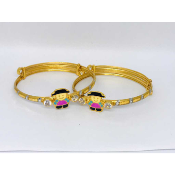 22k Fancy Gold Baccha Kadli B-53007