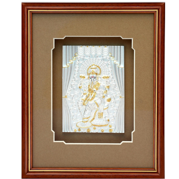 pure silver god photo frame of  royal ganesha