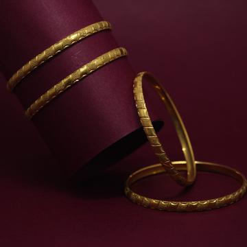 916 Hallmarked Stunning 4 Bangles Set by Simandhar Jewellers