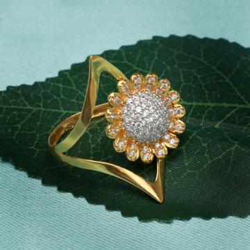 22KT Gold CZ Stylish Ring PJ-R005