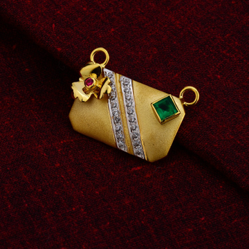 750 Gold Hallmark  Designer Mangalsutra  Pendant MSFP21