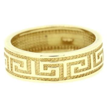 22kt, 916 hm, yellow gold maze textured ring for men jkr226
