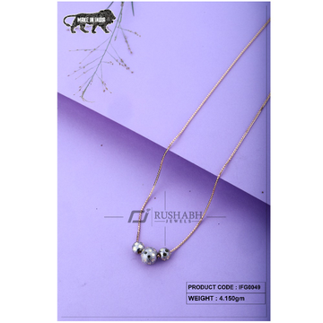 18 carat Italian ladies fancy gold chain 3 piece exclusive ball ifg0049