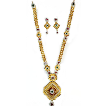 916 Gold Antique Necklace Set MGA - GN027