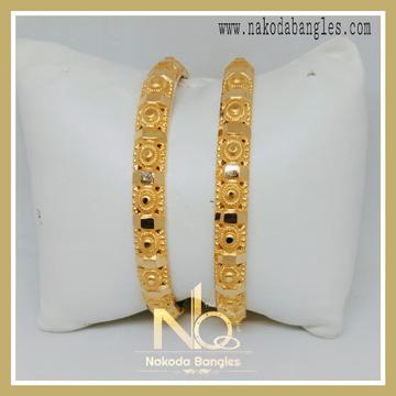 916 Gold Patra Bangles NB-233