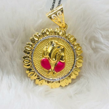 916 Gold ganeshji Chain Pendal