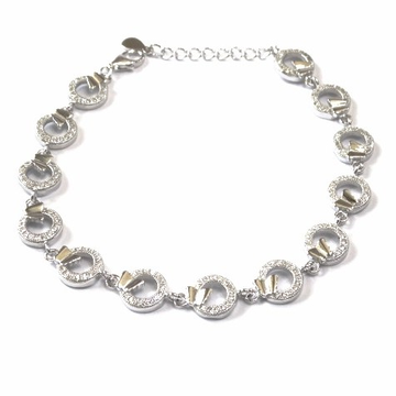 925 Sterling Silver Fancy Bracelet MGA - BRS0419