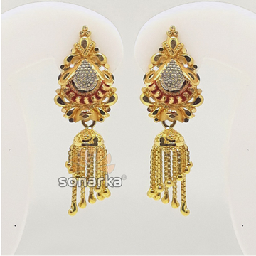 916 Gold Indian Jumkha For Ladies