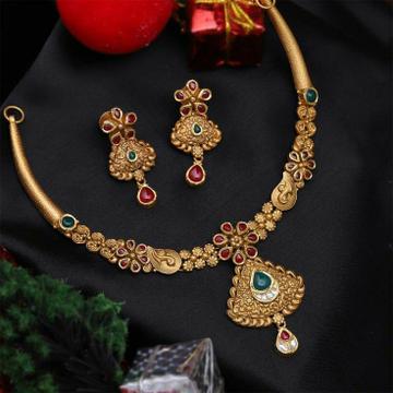22KT/ 916 Gold Antique wedding bridle necklace set... by