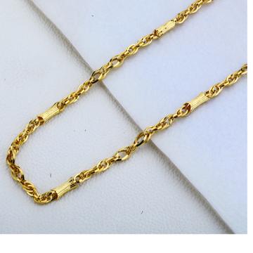 916 gold Hallmark  Fancy Choco Chain MCH180