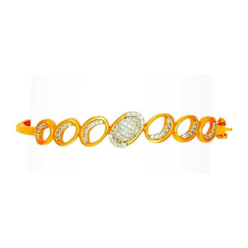 916 Fancy Gold Ladies Designer bracelet