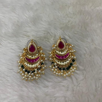 Colorful Traditional Wedding Earrings by