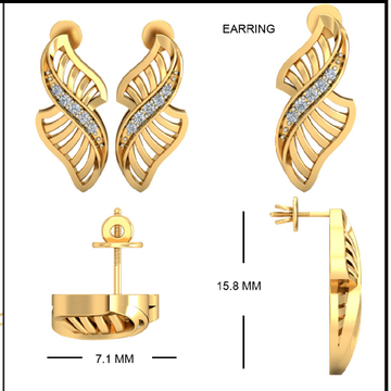 22Kt Yellow Gold Arveen Front Earrings For Women