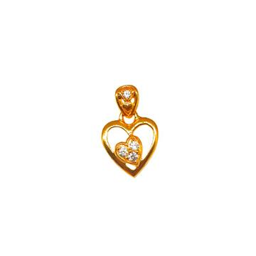 22K Gold Heart Shape Designer Pendant MGA - PDG0232