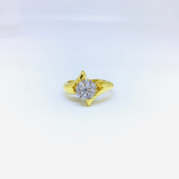 BRANDED FANCY GOLD HOLLOW RING by