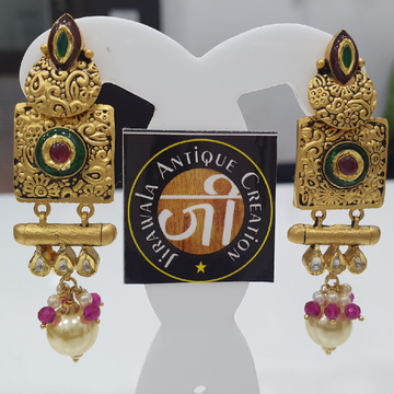 Antique Jadtar Kundan Earring with Moti