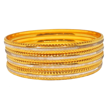 One gram gold forming fancy bangles mga - bge0213