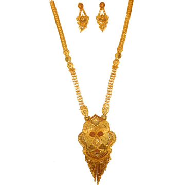 1 gram gold forming necklace set mga - gfn0029