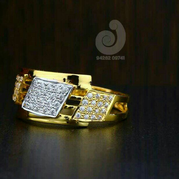 22ct Casual Were Cz Gents Ring