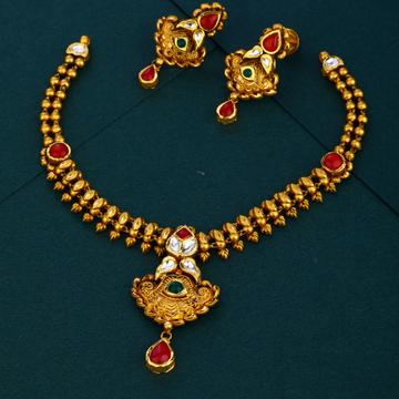 916 gold bridal Antique necklace set