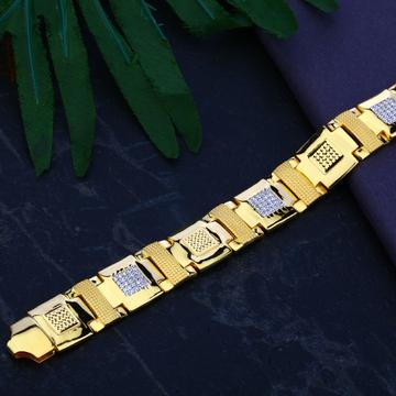 Mens Cz Gold 22K Bracelet-MCB42