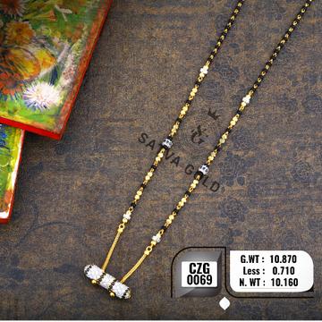 22KT Gold Designer CZ Mangalsutra CZG-0069