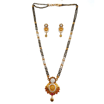 1 gram gold forming fancy mangalsutra mga - mse0113