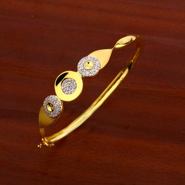 18CT CZ  Ladies Exclusive Gold Kada Bracelet LKB17...