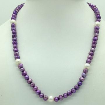 Freshwater Purple and WhitePotatoPearlsMala JPM...