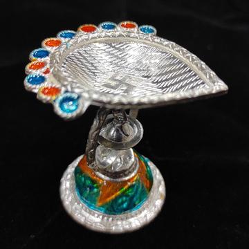 silver diya by