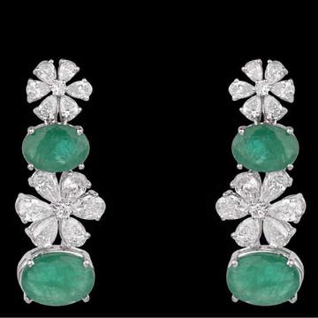 Diamonds and Emeralds EarringsJSJ0161